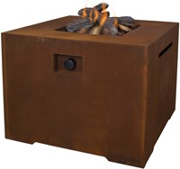 Cosi Fires vuurtafel Cosiconcrete  80, afm. 78 x 78 cm, hoogte 63 cm, 9kW, cortensteel