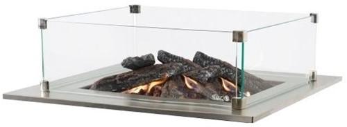 Cosi Fires Cosi glasset rechthoekig smal, afm. 70 x 33 cm, hoogte 18 cm, glas