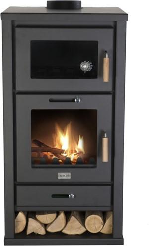 Cosi Fires houtkachel Cosistove Major, afm. 48 x 49 cm, hoogte 96 cm, zwart staal