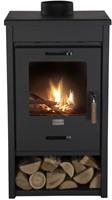 Cosi Fires houtkachel Cosistove Mid, afm. 45 x 40 cm, hoogte 85 cm, zwart staal