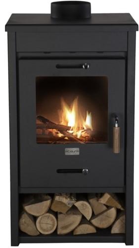 Cosi Fires houtkachel Cosistove Mid, afm. 45 x 40 x 85 cm, zwart staal