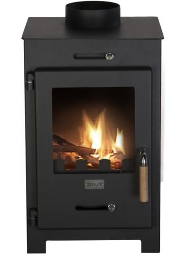 Cosi Fires houtkachel Cosistove Mini, afm. 36 x 37 cm, hoogte 63 cm, zwart staal-1
