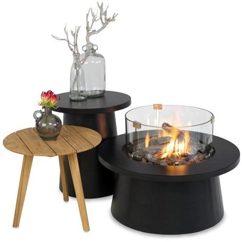 Cosi Fires vuurtafel Cosiglobe, diam. 75 cm, hoogte 36 cm, 9kW, composiet, zwart