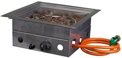 Cosi Fires inbouwbrander Cosiburner, vierkant, afm. 40 x 40 cm, hoogte 16,5 cm, vermogen 9kW