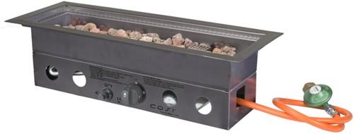 Cosi Fires inbouwbrander Cosiburner, rechthoekig smal, afm. 60 x 22 cm, hoogte 16,5 cm, vermogen 9kW