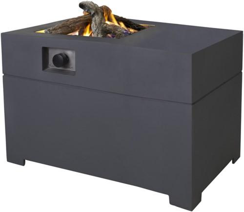 Cosi Fires vuurtafel Cosiconcrete 100, afm. 100 x 78 cm, hoogte 63 cm, 9kW, composiet, antraciet