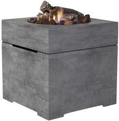 Cosi Fires vuurtafel Cosiconcrete 60, afm. 60 x 60 cm, hoogte 63 cm, 9kW, composiet, betonlook