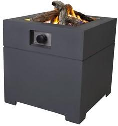 Cosi Fires vuurtafel Cosiconcrete 80, afm. 78 x 78 cm, hoogte 63 cm, 9kW, composiet, antraciet
