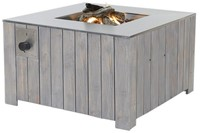 Cosi Fires vuurtafel Cosicube 95, afm. 95 x 95 cm, hoogte 58 cm, douglas hout in grey wash