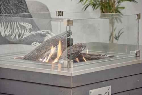 Cosi Fires vuurtafel Cosicube 70, afm. 70 x 70 cm, hoogte 58 cm, 9kW, douglas hout in grey wash-2