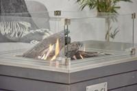 Cosi Fires vuurtafel Cosicube 95, afm. 95 x 95 cm, hoogte 58 cm, douglas hout in grey wash-2