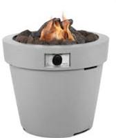 Cosi Fires vuurtafel Cosidrum 56, diam. 70 cm, hoogte 56 cm, 9kW, composiet, lichtgrijs