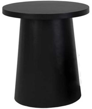 Cosi Fires bijzettafel Cosiglobe, diam. 50 cm, hoogte 55 cm, zwart composiet