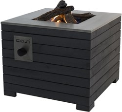 Cosi Fires vuurtafel Cosilines 69, afm. 69 x 69 cm, hoogte 58 cm, 9kW, vurenhout, grijs
