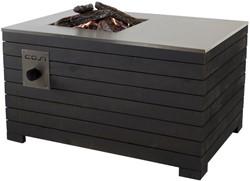 Cosi Fires vuurtafel Cosilines 99, afm. 99 x 69 cm, hoogte 58 cm, 9kW, vurenhout, grey