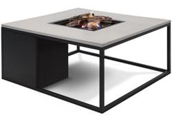 Cosi Fires loungetafel/vuurtafel Cosiloft black/grey, afm. 100 x 100 x 47 cm