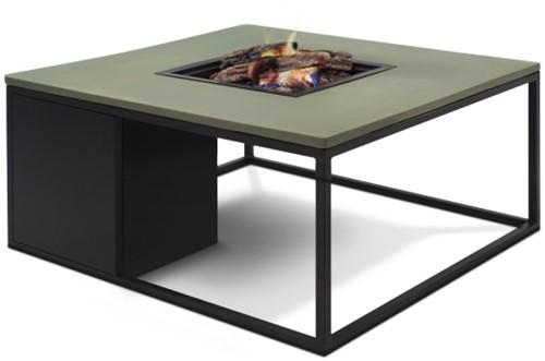 Cosi Fires loungetafel/vuurtafel Cosiloft black/green, afm. 100 x 100 x 47 cm