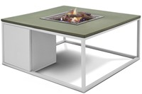 Cosi Fires loungetafel/vuurtafel Cosiloft white/green, afm. 100 x 100 x 47 cm