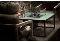 Cosi Fires loungetafel/vuurtafel Cosiloft white/green, afm. 100 x 100 x 47 cm-2
