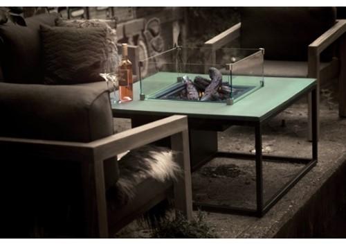 Cosi Fires loungetafel/vuurtafel Cosiloft white/grey, afm. 100 x 100 x 47 cm