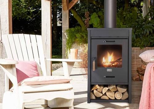 Cosi Fires houtkachel Cosistove Mid, afm. 45 x 40 cm, hoogte 85 cm, zwart staal-2