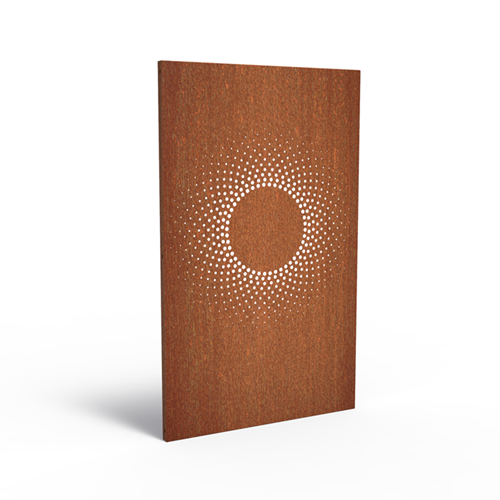 cortenstalen tuinscherm, abstract 2.1