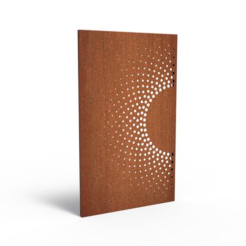 cortenstalen tuinscherm, abstract 2.2