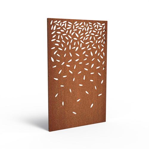 cortenstalen tuinscherm, abstract  4