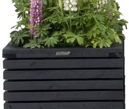 Hillhout Elan bloembak Excellent, afm. 120 x 50 x 33 cm, vuren, zwart-2