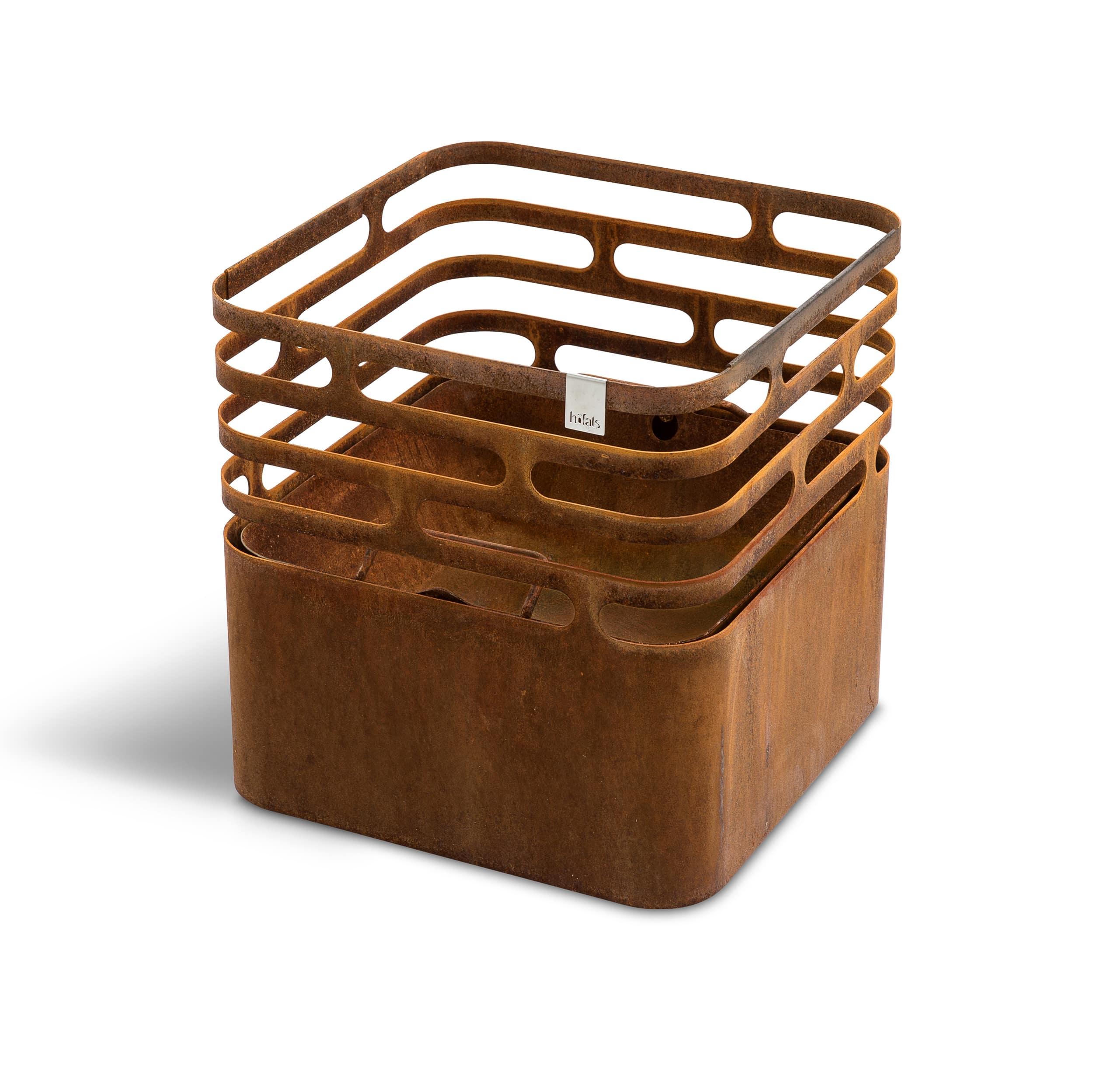 Höfats Cube vuurkorf, roestbruin