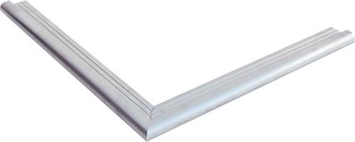 Daktrim met ronde kraal voor tuinhuis/overkapping plat dak t/m 1500 x 600 cm, aluminium