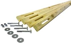 Dakverankeringsset voor tuinhuizen met houtdikte van 28 en 44 mm