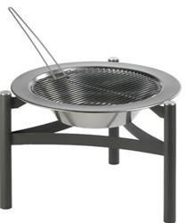 Dancook vuurkorf 9000, op driepoot, met barbecuerooster, showmodel