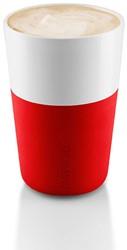 Eva Solo Caffé latte mok, inhoud 360 ml, rood, per 2 st.