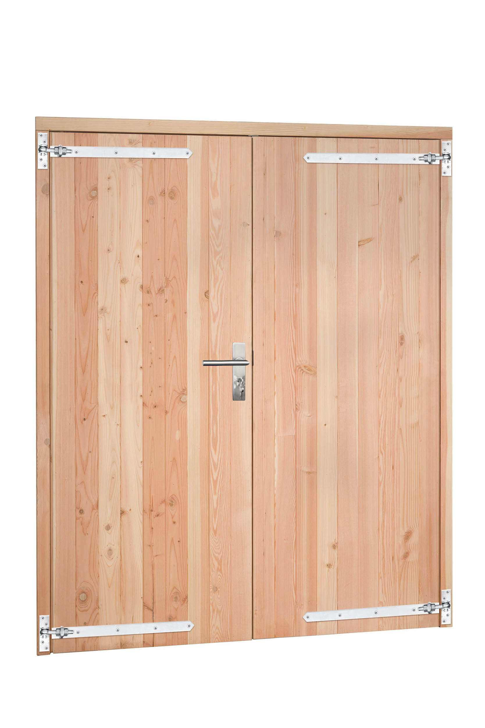 Hillhout Douglas enkele deur incl. kozijn, afm. 168 x 201 cm. - onbehandeld (blank) douglas