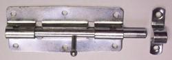 Deurgrendel, rond, lengte 100 mm, verzinkt