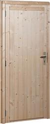 Deur, dicht, buitenmaat 114  x 201,5 cm, extra breed, vurenhout