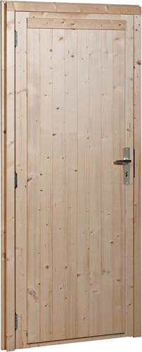 Deur, dicht, buitenmaat 91 x 201,5 cm, vurenhout