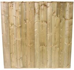 Dichtscherm, tbv beton 12x12, afm. 180 x 184 cm, geïmpregneerd grenen