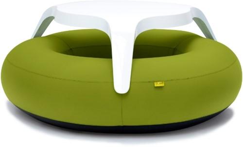 BloField DoNuts Solids, opblaasbare picknickbank, groen, showmodel
