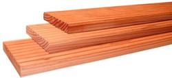 douglas geprofileerd dekdeel, afm.  2,4 x  13,8 cm, lengte 400 cm