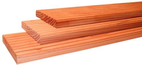 douglas geprofileerd dekdeel, afm.  2,4 x  13,8 cm, lengte 300 cm