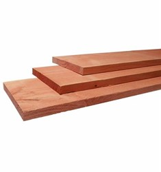 douglas plank, fijn bezaagd, afm. 1,9 x 19,5, lengte 360 cm
