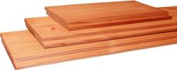 Halfhouts rabat, afm.  1,8 x 19,5 cm, lengte 500 cm, douglas