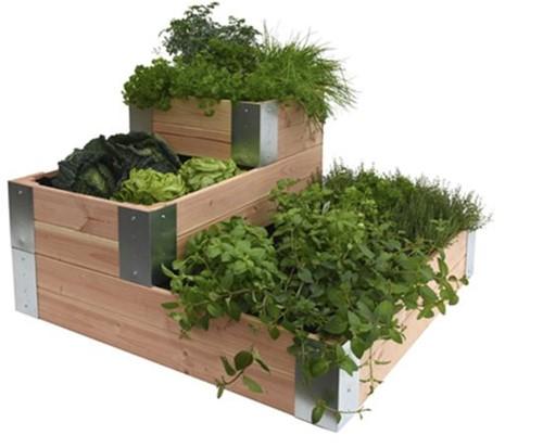 Woodvision Douglas minigarden, hoek, afm. 100 x 100 x 60 cm