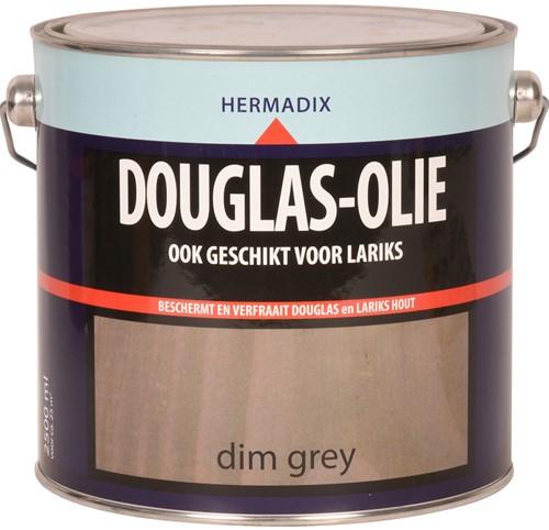Hermadix douglas olie, transparant, dim grey, blik 2,5 liter