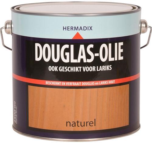 Hermadix douglas olie, transparant, naturel, blik  2,5 liter