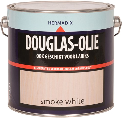 Hermadix douglas olie, transparant, smoke white, blik 2,5 liter