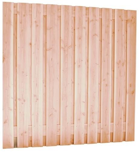 Douglas tuinscherm, afm 180 x 180 cm, 21-planks onbehandeld