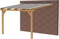 Hillhout douglas veranda Excellent 500, afm. 528 x 350 cm, helder dakplaat-1